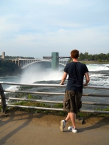 Tom at Niagara Falls - August 2011